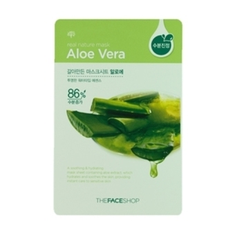 Harga 10 sheets The Face Shop Real Nature Mask - Aloe