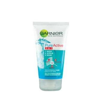 Harga GARNIER Pure Active 3In1 Wash Scrub Mask