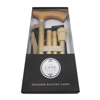 The Cane Collective Foldable Designer Walking Canes (Engraved Gold Cane) - 2
