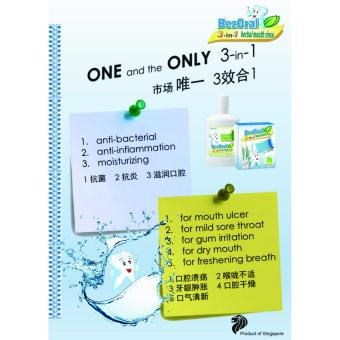 3 In 1 Herbal Mouth Rinse - Menthol Flavor - 3