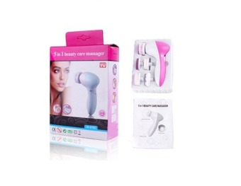 Harga 5-In-1 Automatic Ultrasonic Exfoliating Face Facial Massager Brush Pore Cleanser.