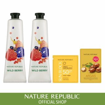 Harga [1+1] Nature Republic Hand&Nature Wild Berry Hand Cream