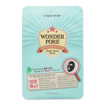Harga Etude House Wonder Pore Black Mask Sheet 21ml (#3pcs) - intl