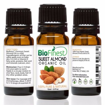 Harga Biofinest Sweet Almond Organic Oil (100% Pure Organic Carrier Oil) 10ml