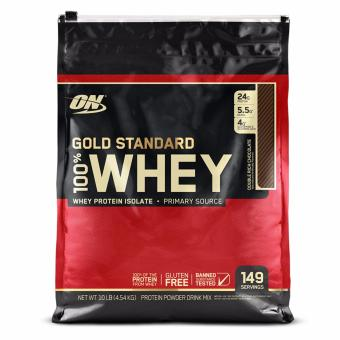 Harga Optimum Nutrition Gold Standard 100% Whey 10 lbs - Double Rich Chocolate