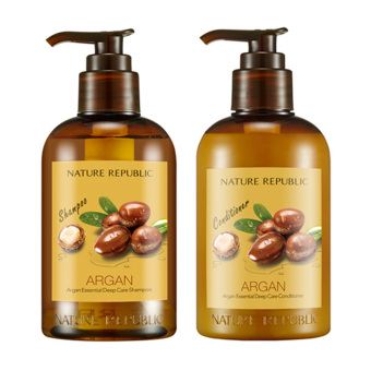 Harga Nature Republic Argan Essential Deep Care Shampoo & Conditioner 300ml *2