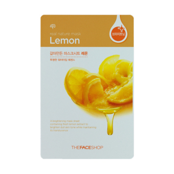Harga 10 Sheets The Face Shop Real Nature Mask - Lemon