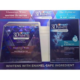 Harga CREST 3D WHITE WHITESTRIPS LUXE GLAMOUROUS WHITE (14 TREATMENTS) WITH 3D WHITE 1HR EXPRESS WHITESTRIPS (2 TREATMENTS)