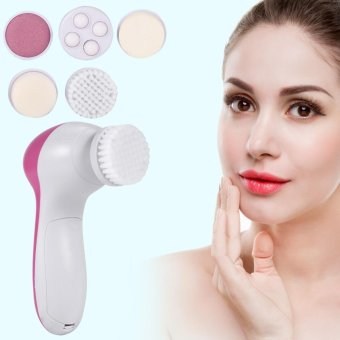 Harga 5 In 1 Beauty Face Care Massager Electric Facial Cleanser Brush Massaging Tool - intl