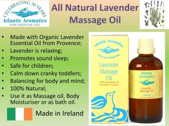 Atlantic Aromatics Lavender Massage Oil 100% Natural - 2