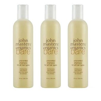 Harga 3 x John Masters Organics Bare Unscented Shampoo (All Hair Types) 8oz, 236ml - intl