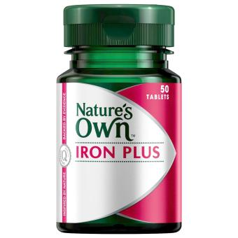 Harga Nature's Own Iron Plus 50 Tablets