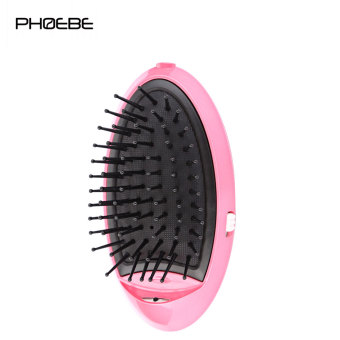 Harga PHOEBE LM - 401 Anion Protection Mini Hair Cordless Straightening Flat Iron Combs(Pink) - intl