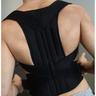 Harga New Posture Corrector Adjustable Back Brace Back Support Shoulder Band Belt-S - intl