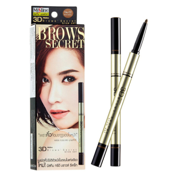 Harga Mistine 3D Brows' Secret Brow 3 in 1 Set (02 LIGHT BROWN)