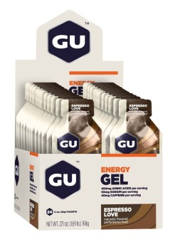 Harga GU Energy Gel Espresso Love 24 Pack With Free Gift
