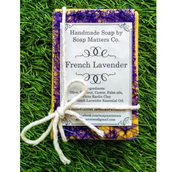 Harga Soap Matters Co. French Lavender Handmade Soap (~110g)