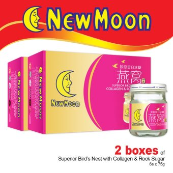 New Moon Superior Bird's Nest With Collagen And Rock Sugar 6's x 75g x 2 Boxes
