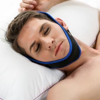 Sunweb ACEVIVI Nylon Snore Stopping Chin Strap Soft Sleep Anti Snore Strap - intl - 3