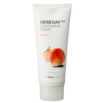 Harga The Face Shop - Herb Day 365 Peach Cleansing Foam 170ml