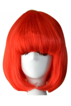 Harga Fashion Cosplay Party Halloween Christmas Short Straight Hair Wigs Red