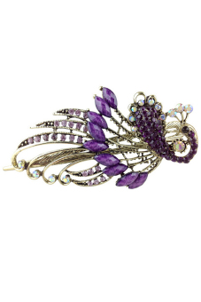 Harga Jetting Buy Women Hair Clips Vintage Rhinestone Peacock Purple