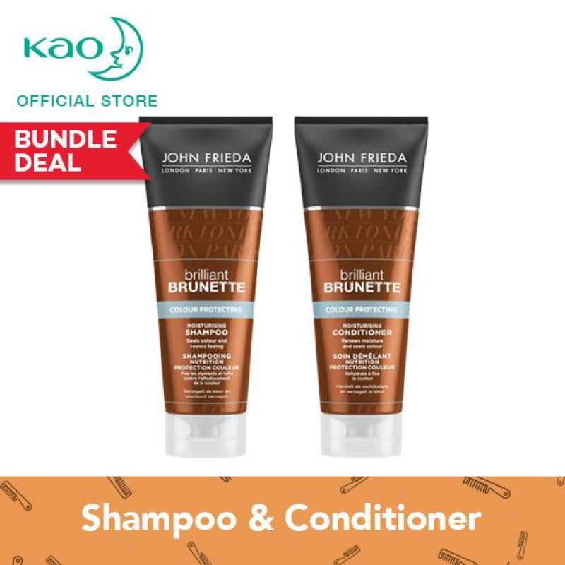 Buy John Frieda Brilliant Brunette Colour Protecting Shampoo & Conditioner Set Singapore