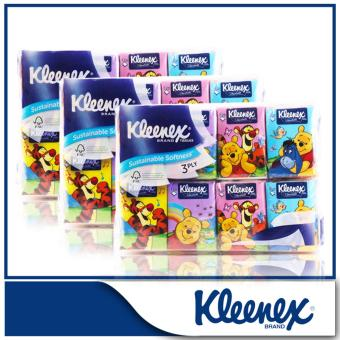 Kleenex Pocket Pack 3-Ply Facial Tissue Pooh 32x8sheets x 3