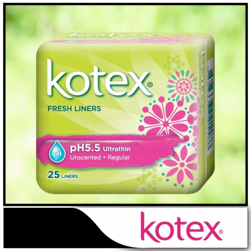 Buy Kotex Fresh Liners pH5.5 Ultrathin Unscented 25pcs Singapore