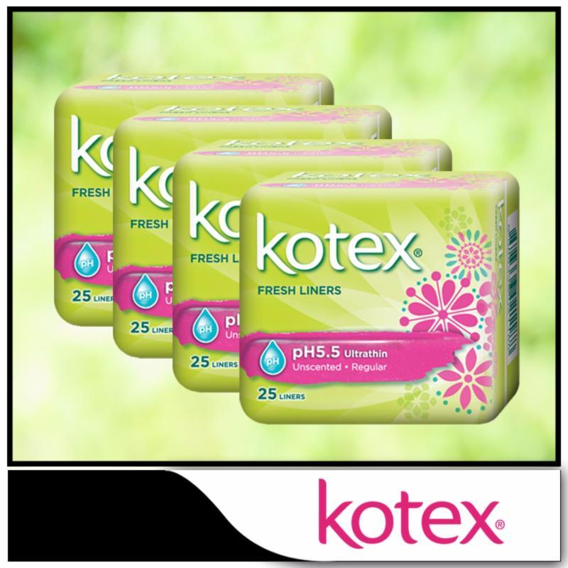 Buy Kotex Fresh Liners Breathable Regular Scented 40pcs x 4 packs Singapore