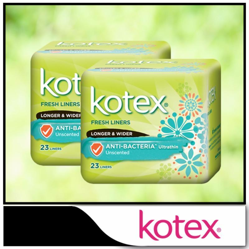 Buy Kotex Fresh Liners Ultrathin Anti-Bacteria Longer & Wider 23pcs x 2 packs Singapore