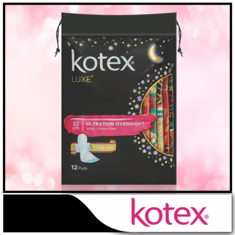 Buy Kotex Pads Luxe Ultra Thin Wing Overnight 32cm 12pcs Singapore