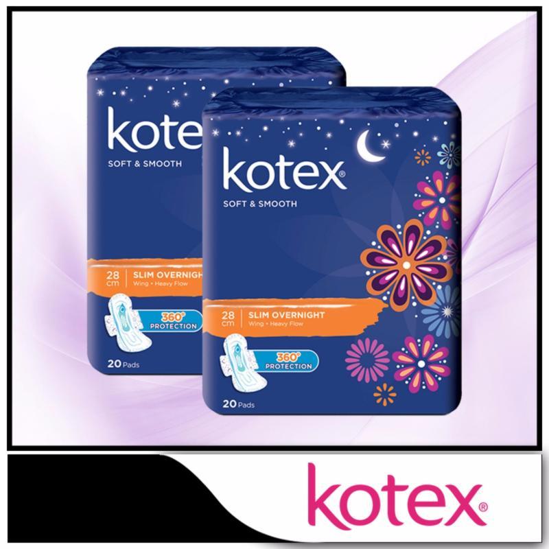 Buy Kotex Pads Luxe Ultra Thin Wing Overnight 32cm 12pcs x 2 packs Singapore