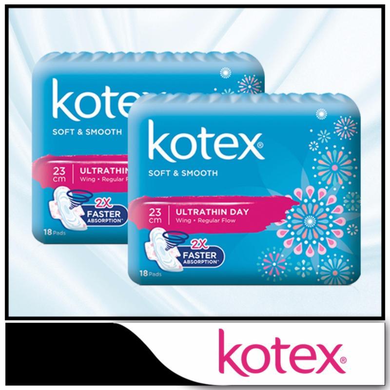 Buy Kotex Pads Soft & Smooth Ultrathin Overnight 28cm 16pcs x 2 packs Singapore