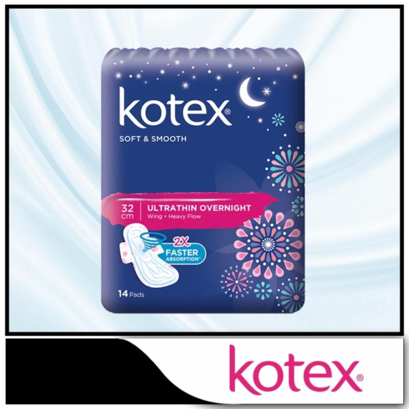 Buy Kotex Pads Soft & Smooth Ultrathin Overnight 32cm 14 pcs Singapore