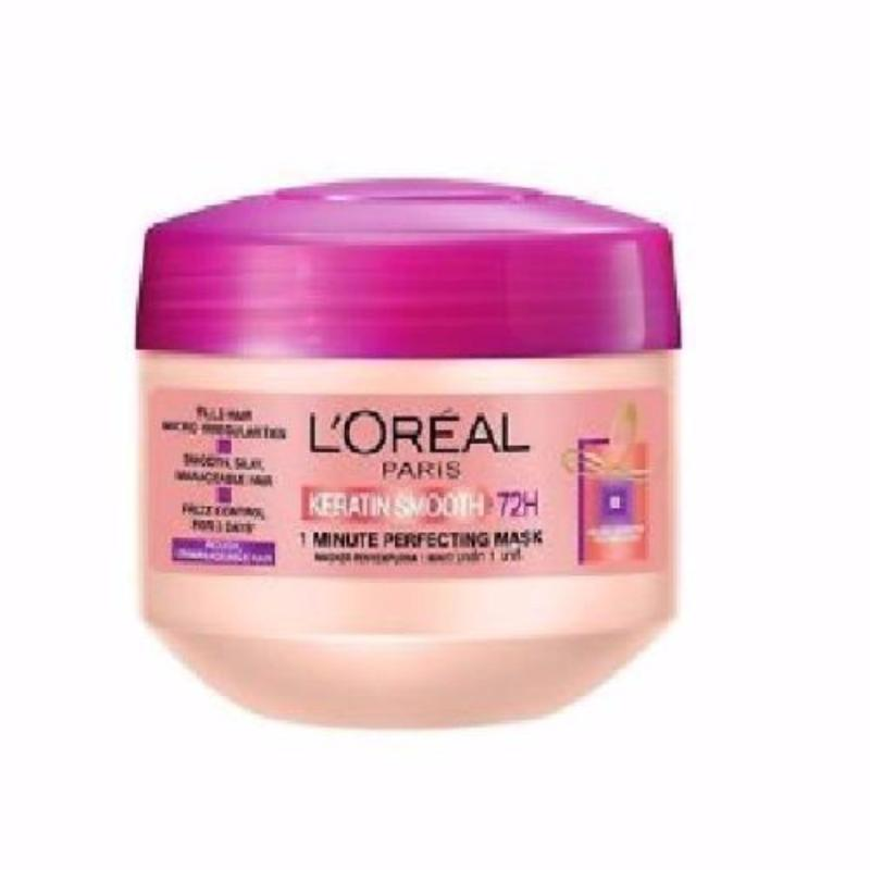 Buy L'Oreal Paris Elseve Keratin Smooth 1 Minute Perfecting Mask Singapore