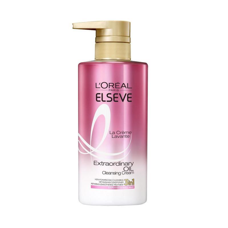 Buy L'Oreal Paris Extraordinary Oil La Crème Lavante 440ml (Pink) Singapore