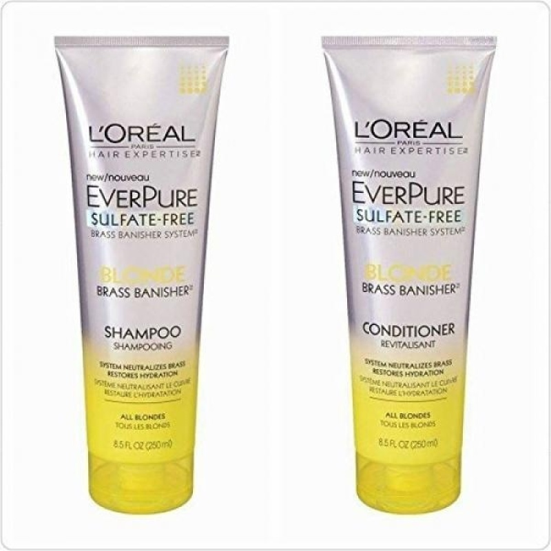 Buy LOreal Paris Hair EverPure Blonde Shampoo and Conditioner 8.5 Ounce Duo - intl Singapore