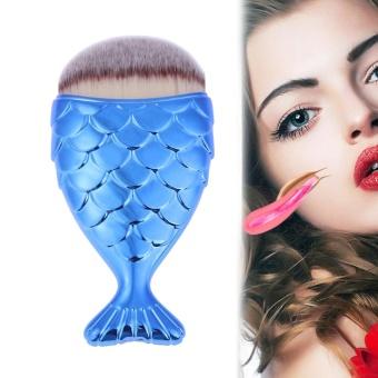 Makeup Brush Fishtail Bottom Brush Powder Foundation Blush Tool(Blue) - intl - 2