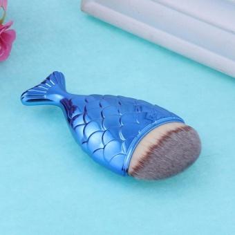 Makeup Brush Fishtail Bottom Brush Powder Foundation Blush Tool(Blue) - intl - 4