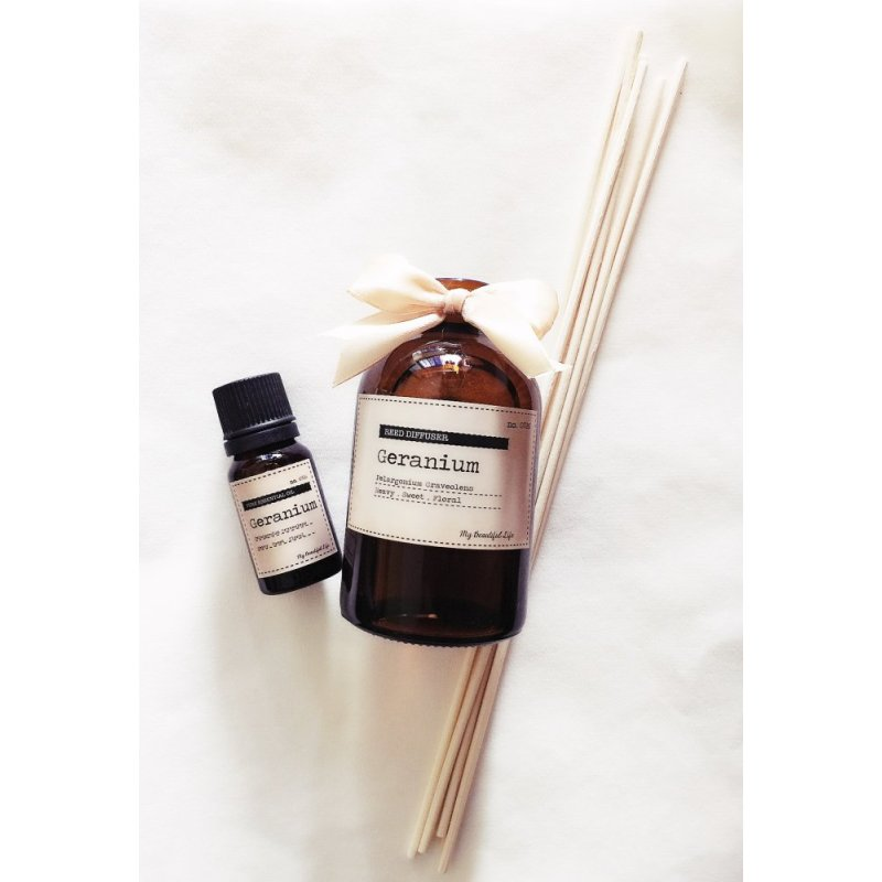 Buy My Beautiful Life Aromatherapy Geranium Pure Essential Oil and Reed Diffuser Value Set Singapore