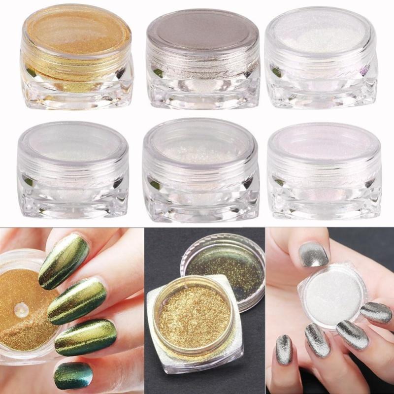Buy Nail Art Shinning Chameleon Mirror Glitter Powder Gorgeous Chrome Glitters 2g - intl Singapore