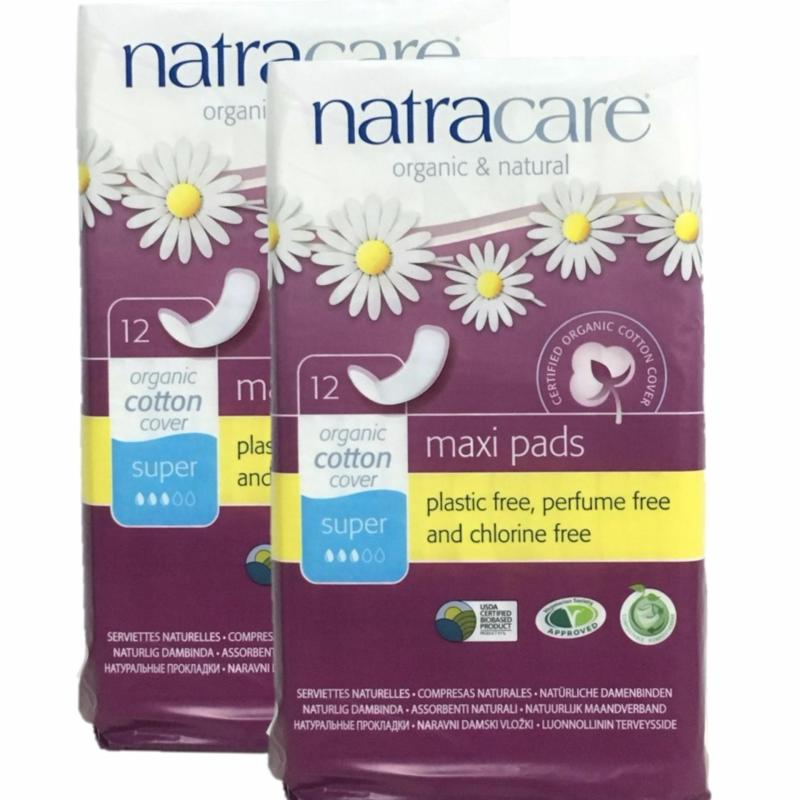 Buy Natracare Maxi Pads with Organic Cotton Cover - Super 12pcs x 2 (Twin Pack)(0-6) Singapore
