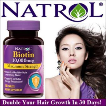 Harga Natrol Biotin 10000 mg 100 tablet Hair, Nail, Skin