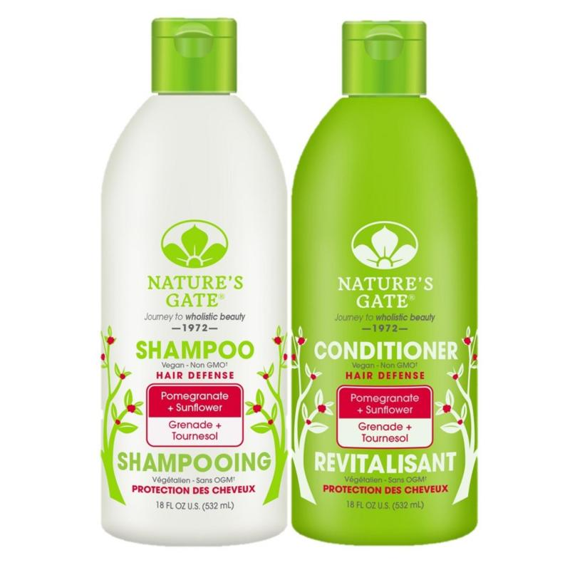 Buy Nature's Gate Pomegranate + Sunflower Hair Defense Shampoo and Conditioner 532ml Singapore