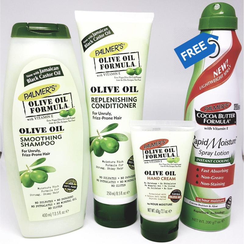 Buy Palmer's Olive Oil Hair & Hand Bundle Pack  (FREE Cocoa Butter Aloe Spray) Singapore