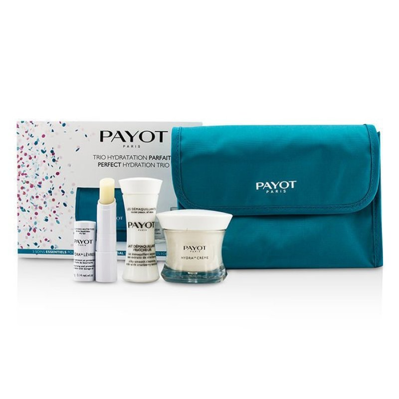 Buy Payot Perfect Hydration Trip Set : Cleansing Milk 30ml + Cream 50ml + Lip Balm 4g + Bag 3pcs + 1bag (EXPORT) Singapore