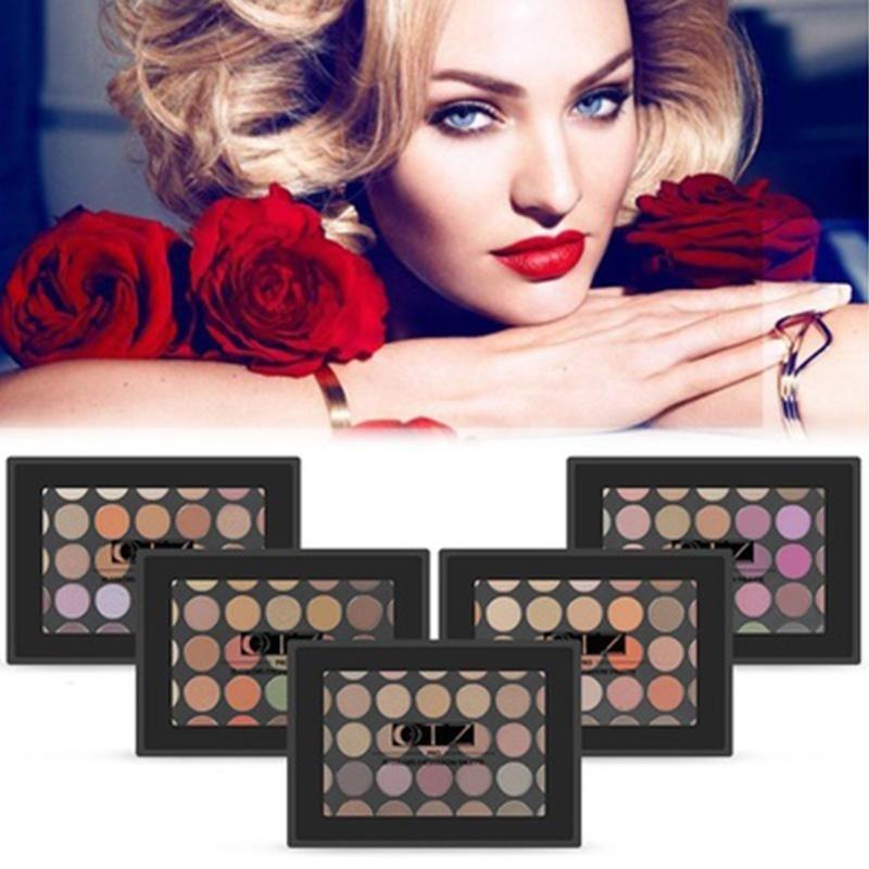 Buy Professional 35-Color Waterproof Beauty Shimmer Eye Shadow Palette W/Brush - intl Singapore