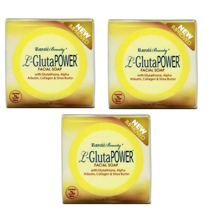Buy Royale L-Gluta Power Anti-ageing Facial Soap - New Improved (Value Set 3 pcs) Singapore