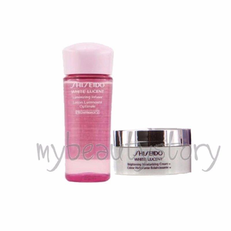 Buy Shiseido White Lucent Luminizing Infuser (toner) 25ml + Moisturizing Cream 18ml Singapore